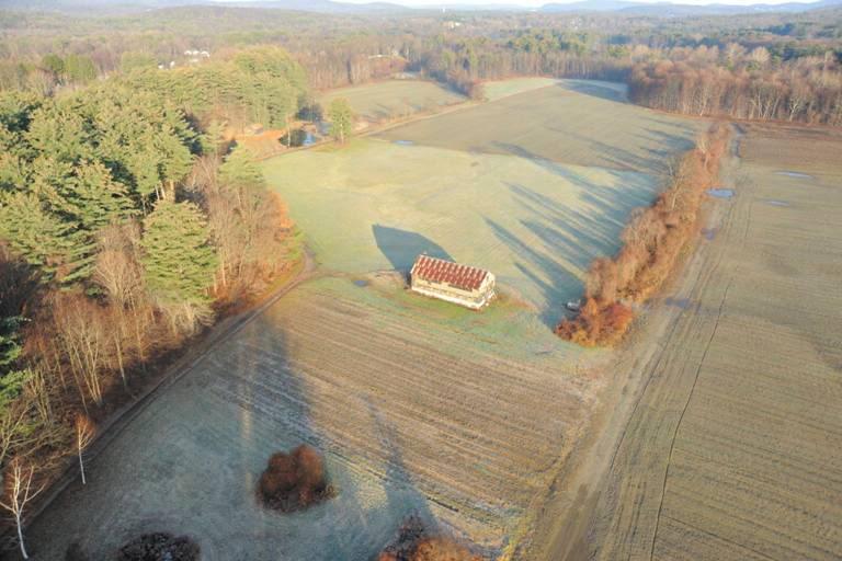 Aerial vier of Bean Farm