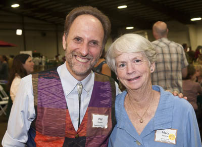 Phil with Mary Nourse, board member