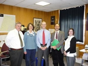 Staff from CISA, Berkshire Grown, and Northeast Harvest meet with Sen. Benjamin Downing.